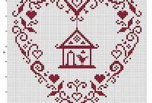 Cross Stitch Monohrome