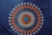 Textiles & Home Decor / Hand block printed tapestry from N. india.