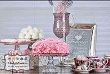 Pink and Gray Dessert Table / These two colour combinations are elegant and romantic, complimenting each other so well.  Perfect for a Bridal shower, Wedding, Birthday, and Mother`s Day celebrations. / by Partystock