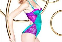 L'Agent (by Agent Provocateur) / is a lower-priced diffusion line produced by UK Agent Provocateur. The brand is a collaboration between the Cruz sisters (Penélope and Monica). The range consists a cute and colorful assortment of familiar looks that convey the flirty eroticism that AP is famous for, with enough diversity to cover a range of occasions, moods and body types. What distinguishes the new collection are its price points (roughly half of what you pay for AP lingerie sets) and distribution channels.