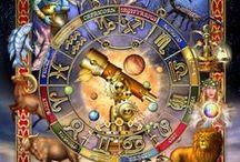 Zodiaque - Astrologie / Illustrations des signes à travers les âges et leur interprétation par thème astral / by Elisabeth Francoual