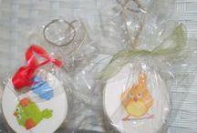 Portachiavi / Porta chiavi con disegni di uccellini fatte in Casa Gialla.