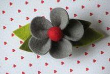 Filz-/Stoff-/Papier- Blumen