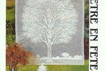 drzewa / haft