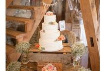 Cakes at Packington Moor / These are some of the beautiful wedding cakes we have seen at Packington Moor!
