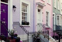 London in Pink / London is gorgeous. From pink cherry blossom trees in Southwark to pink front doors in Kensington, this is the board for any fans of the colour pink!