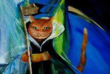 Katzen Kunst