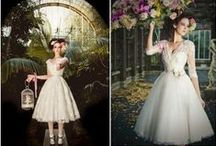 Tea Length Wedding Dresses / This past weekend, we have seen a couple of shorter wedding dresses and we love them. Take a look at some of the ones we like!