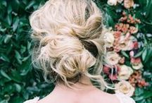 Bridal Hair / We see so many different styles of wedding hair. Here are some beautiful ideas we've found while searching Pinterest.