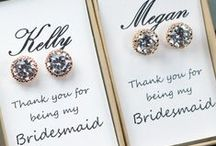 Bridal Party Gifts / It's customary on a wedding day to thank your bridal party with a gift thanking all for their hard work during the planning of the big day. Here are some lovely gift suggestions we have come across over the years.