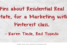 Residential Real Estate / This board is full of examples of (residential) real estate pins, used for teaching Marketing with Pinterest classes.  Most of my examples are from sites presenting homes for sale in the Raleigh, NC area.  Contact me if you'd like to talk about marketing properties in Pinterest, and/or sign up for the newsletter (website or QR Code Pin) to get regular updates.