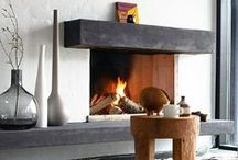 Home is where the Hearth is / Contemporary fireplace designs that we love.