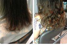 Mega Hair / Antes e depois Mega Hair Adesivado