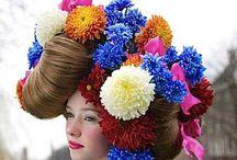 Flower Hair - Flores en la cabeza / Una flor en el pelo y te entra alegría de vivir / by Nuria Bernabé Fernández