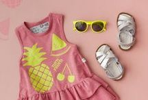 Favourite Flatlays Spring Summer 15 / Flatlay kids fashion looks creating stylish outfit suggestions for sunshine loving summer beach babes and adventurous little ones. Childrens flatlay style + Inspiration