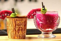 """Tiki Mugs / """"Tiki Mug"""" is a generic, blanket term for sculpture drinkware that depict imagery from Polynesia, Micronesia or Melanesia or currently anything tropical. The cocktails in a tiki mug can sometimes be complicated and dramatic."""