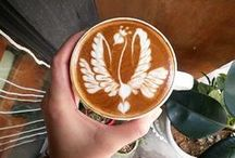 Latte Art / While many agree that making a good cup of espresso is an art within itself, latte art is referring to the method of preparing coffee created by pouring steamed milk into a shot of espresso and resulting in a pattern or design on the surface of the latte.