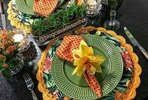 Decoração | Mesa Posta / Dicas e inspirações para preparar uma mesa bem bonita.