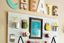Decoração | Ateliê de artesanato / Dicas e ideias para a decoração e arrumação do atelier de artesanato