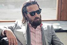 long hair bearded men