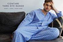 Contare Yarn Dye Men's Collection / Contare | Quality Men's Pyjamas. Comfortable woven check fabrics in various styles.