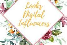 Looks | Digital Influencers / As Digital Influencers sempre apresentam as últimas tendências em moda. Esse painel é de alguns looks que mais gostei das mais famosas.