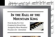 """In the Hall of the Mountain King: Multi Levels - Covers / Cover sheets of piano sheet music of """"In the Hall of the Mountain King"""" in multi levels arranged & edited by Mizue Murakami from Galaxy Music Notes."""