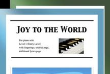 """Joy to the World: Multi Levels - Covers / Cover sheets of piano sheet music for """"Joy to the World"""" in multi levels arranged & edited by Mizue Murakami from Galaxy Music Notes."""