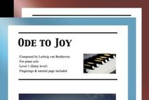 """Ode to Joy: Multi Levels - Covers / Cover sheets of piano sheet music for """"Ode to Joy"""" in multi levels arranged & edited by Mizue Murakami from Galaxy Music Notes."""