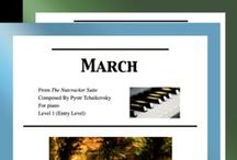 March: Multi Levels - Covers / Cover sheets of piano sheet music for March from The Nutcracker in multi levels arranged & edited by Mizue Murakami from Galaxy Music Notes.
