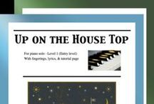 """Up on the Housetop: Multi Levels - Covers / Cover sheets of piano sheet music for """"Up on the Housetop"""" in multi levels arranged & edited by Mizue Murakami from Galaxy Music Notes."""