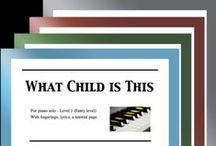 """What Child is This: Multi Levels - Covers / Cover sheets of piano sheet music for """"What Child is This"""" in multi levels arranged & edited by Mizue Murakami from Galaxy Music Notes."""