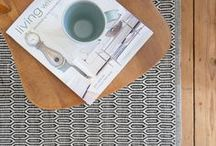 Geometric Scandinavian rugs / A selection of our rugs that have bold geometric prints and patterns!