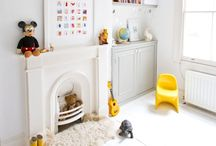 Tiny Little Fireplaces / Fireplaces in kids rooms can be so much fun! They can be functional or faux, equally decorative. Here are lots of ideas if you have been wondering to do with that awkward fireplace in your kids' room or if you want to add a decorative faux one. Kids Fireplaces.