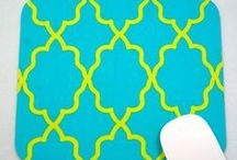 GilmoreCreations.etsy.com / Come Visit my Etsy Shop!! Colorful, Whimsical, Unique Fabric MousePads/Trivets & Coasters are our specialty!! Our fabrics may be used to create ANY of the shaped pads we carry ~ custom requests are ALWAYS welcomed! We also make fantastic teakwood salad tongs!  We believe that life should be fun!