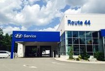 "Route 44 Hyundai Service / ""There's No Place Like Route 44 Hyundai Service, There's No Place Like Route 44 Hyundai Service!""  That's what Dorothy would say if she landed here. Drive-Up Service Bay, Great Service Techs, Free Wifi, Business Center, Shuttle Service, Kids Area, and Coffee Bar."