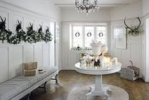 CHRISTMAS COUNTRY HOUSE / Traditional and festive ideas for creating the perfect country house at Christmas.