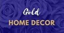 Gold Home Decor Inspiration / #Gold #HomeDecor inspiration   Gold #Homeware   Gold #Accessories   Gold Interiors   Gold Furniture  