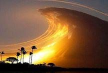 Cloud busting / In the heavens.