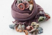 Mixed media scarves
