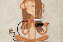 0 ilustración que monos / by dayanos arte