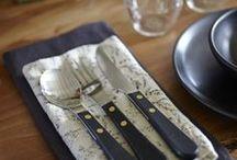 Table Setting Inspiration / Beautiful place settings created using David Mellor cutlery.