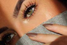 Eyes, nails and brow.