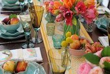 Vestir la mesa - Tablescape / Ideas para presentar la mesa en ocasiones especiales.