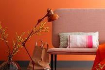 Mandarina - Orange / Espacios interiores en tonos naranjas.