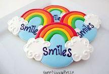 Sugar cookies/ rainbow