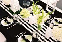 Wedding-black,white,green