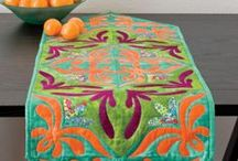 Table & Bed Runner Patterns / Our favorite Table & Bed Runner Patterns to make your dining/bedroom area amazing. Nothing better than #diy decor, these table runner pattern options are sure to be a hit for a party or everyday dining.