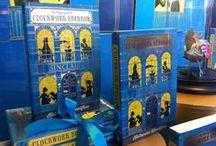 The Clockwork Sparrow displays / Gorgeous bookshop displays for The Mystery of the Clockwork Sparrow - Waterstones Children's Book of the Month June 2015