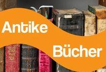Antike Bücher / Antike Bücher findest du an vielen Orten: In Bibliotheken, auf Buchauktionen, auf Flohmärkten oder in deiner eigenen Bibliothek.